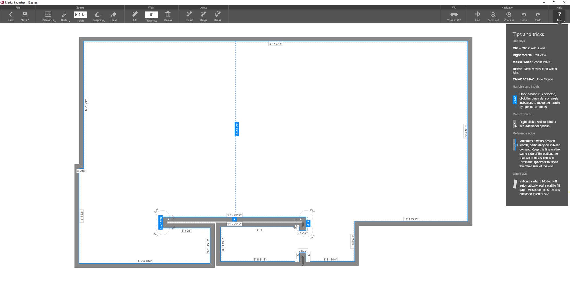 Updated floor plan editor