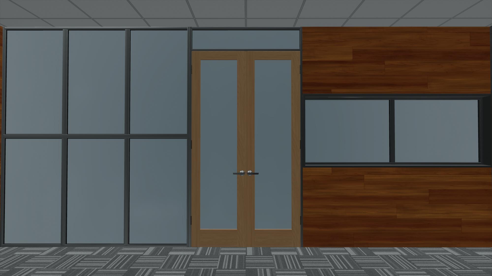 Glass wall, commercial door, commercial window